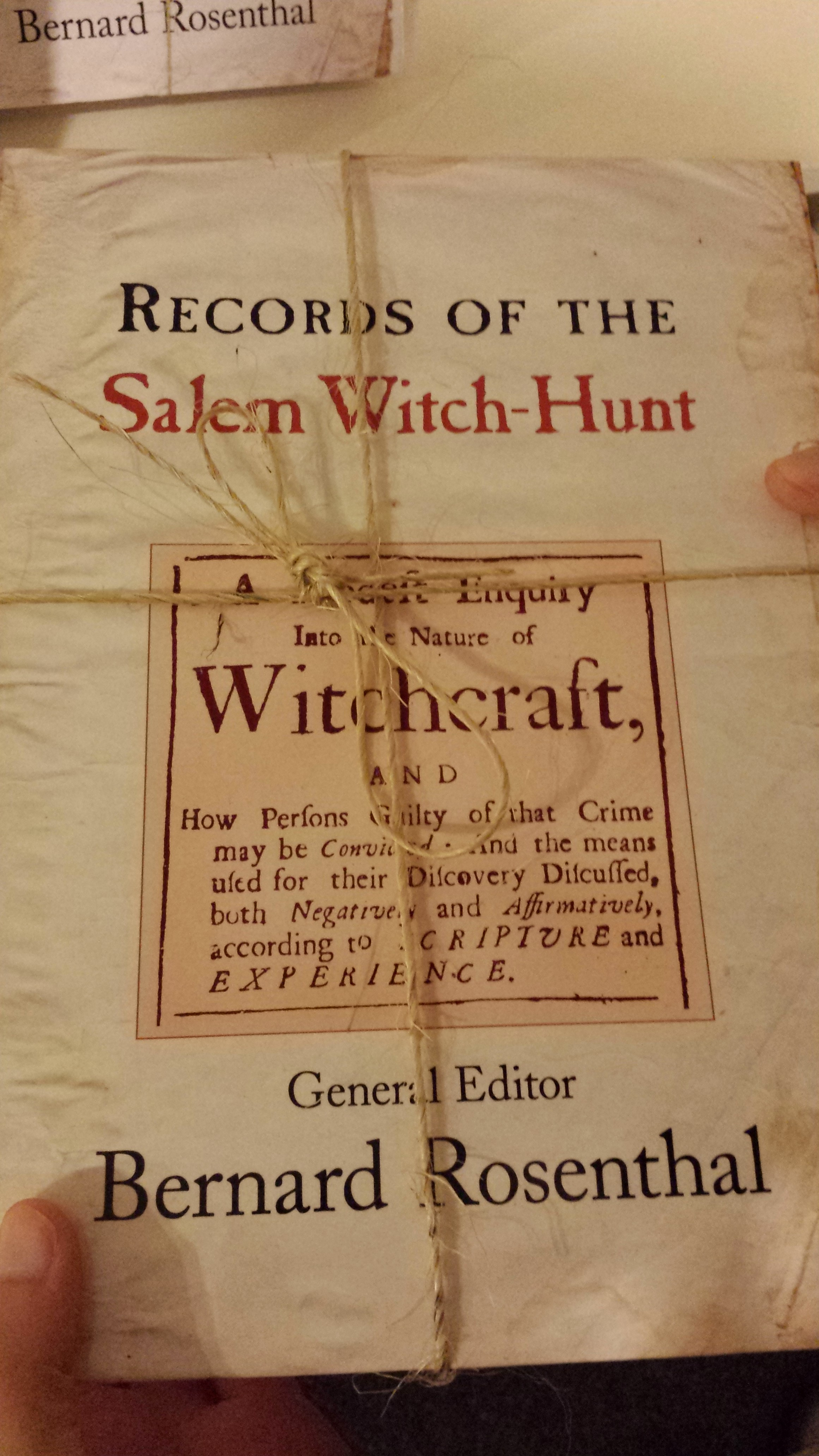 Salem Witch Trials Research Paper Thesis Statement